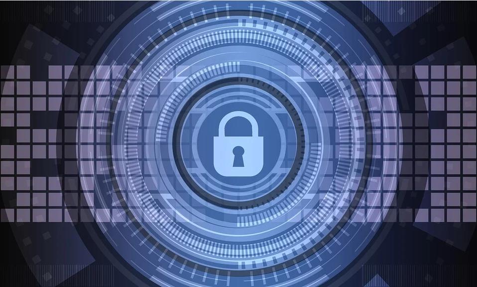 Blue Security Lock Background