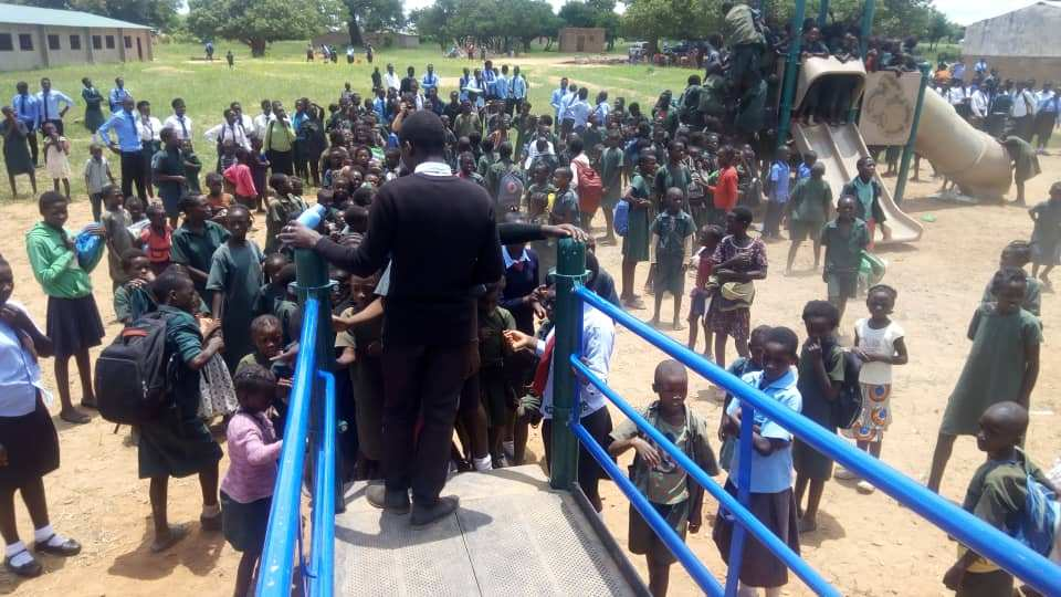 Playground opening in Zambia