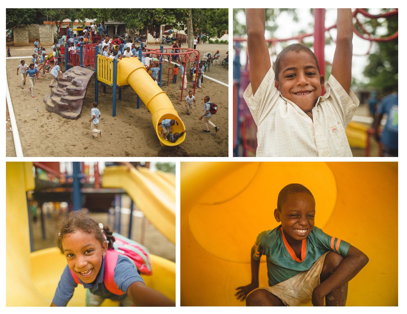 Dominican Republic playground collage