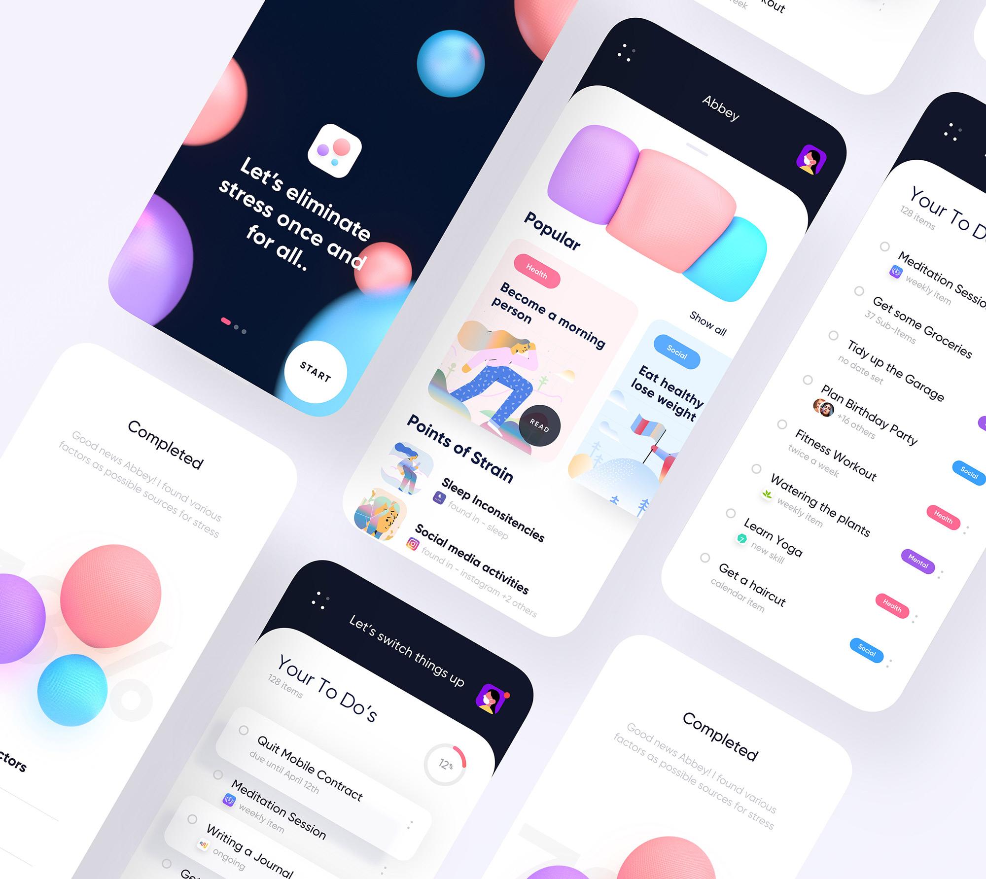 A Image showing Multiple App Screens of Snug App