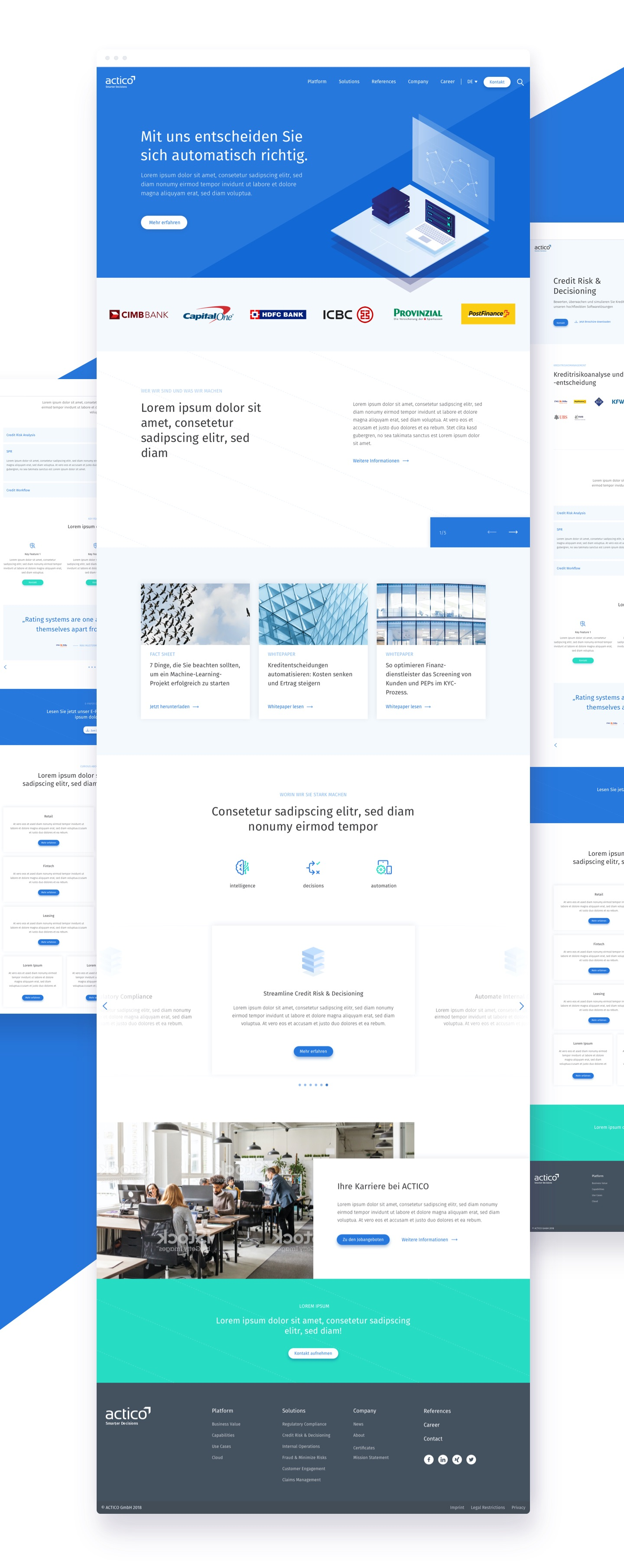 ACTICO Website Design