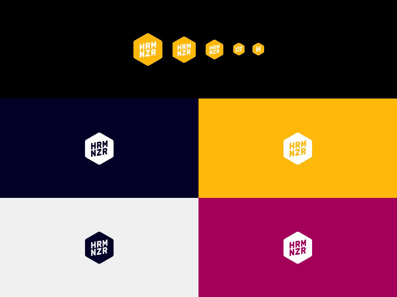 harmonizer Logos auf farbigen Grund