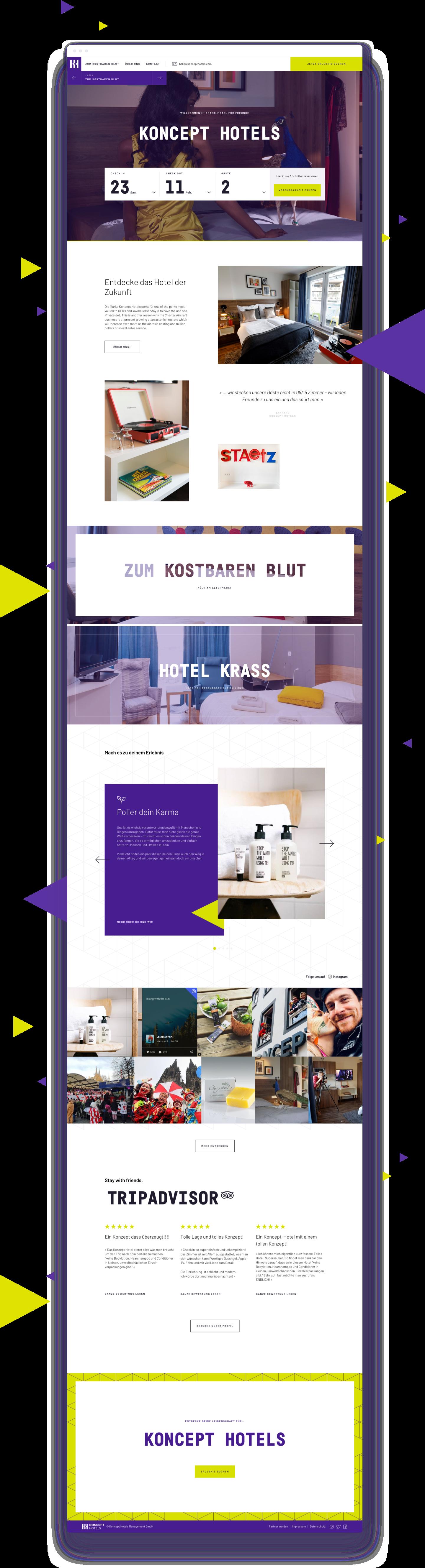 Koncept Hotels Website Design