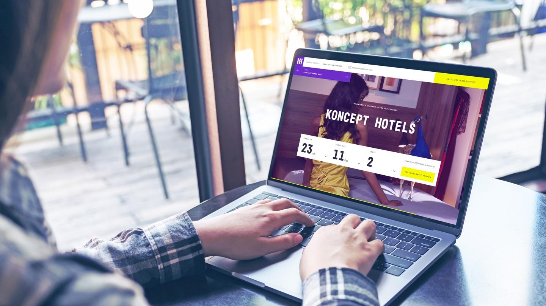 Koncept Hotels Startseite Laptop
