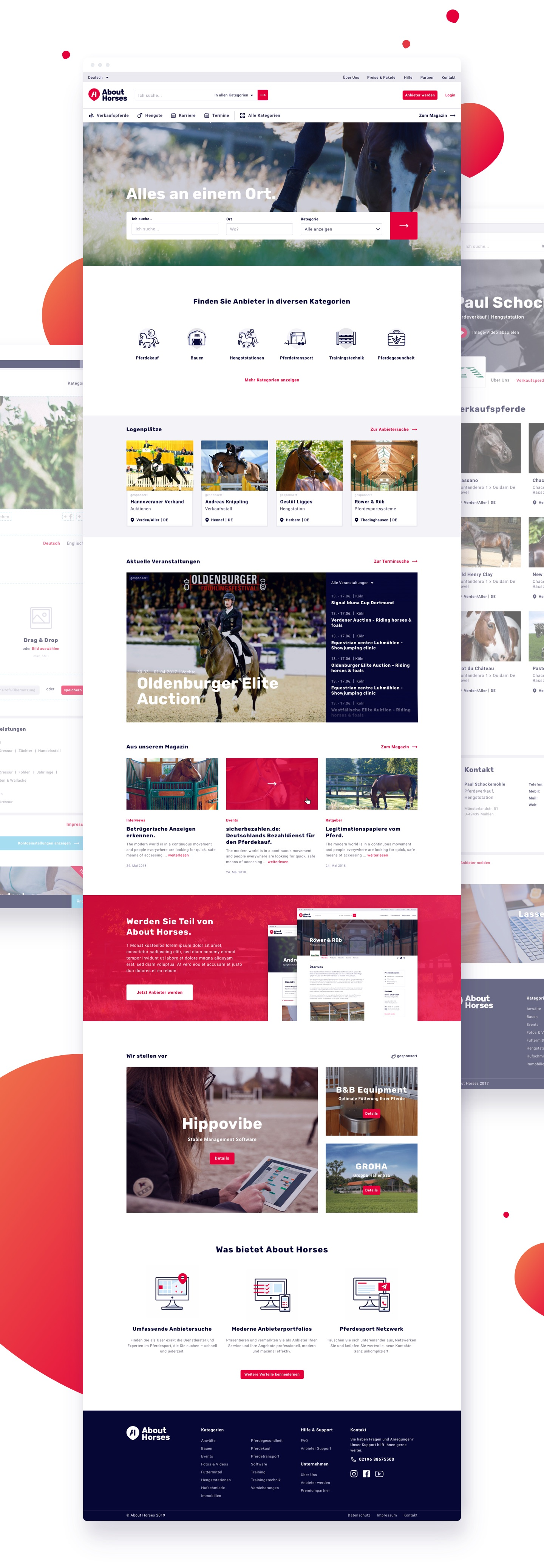 About Horses Website Design