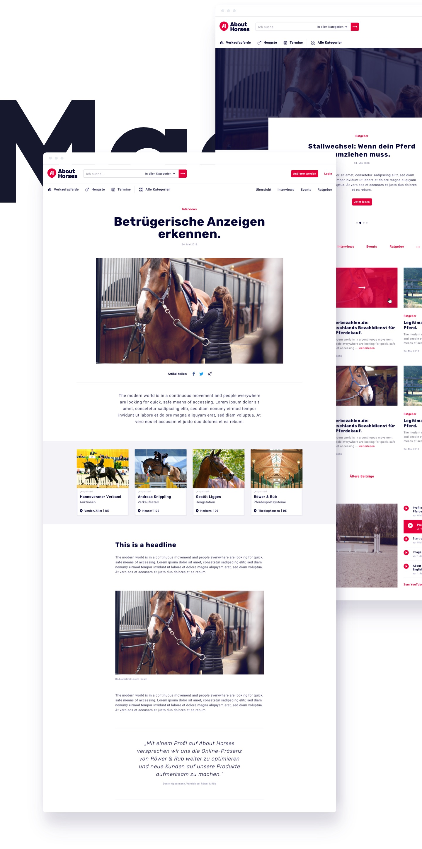 About Horses Design Magazin