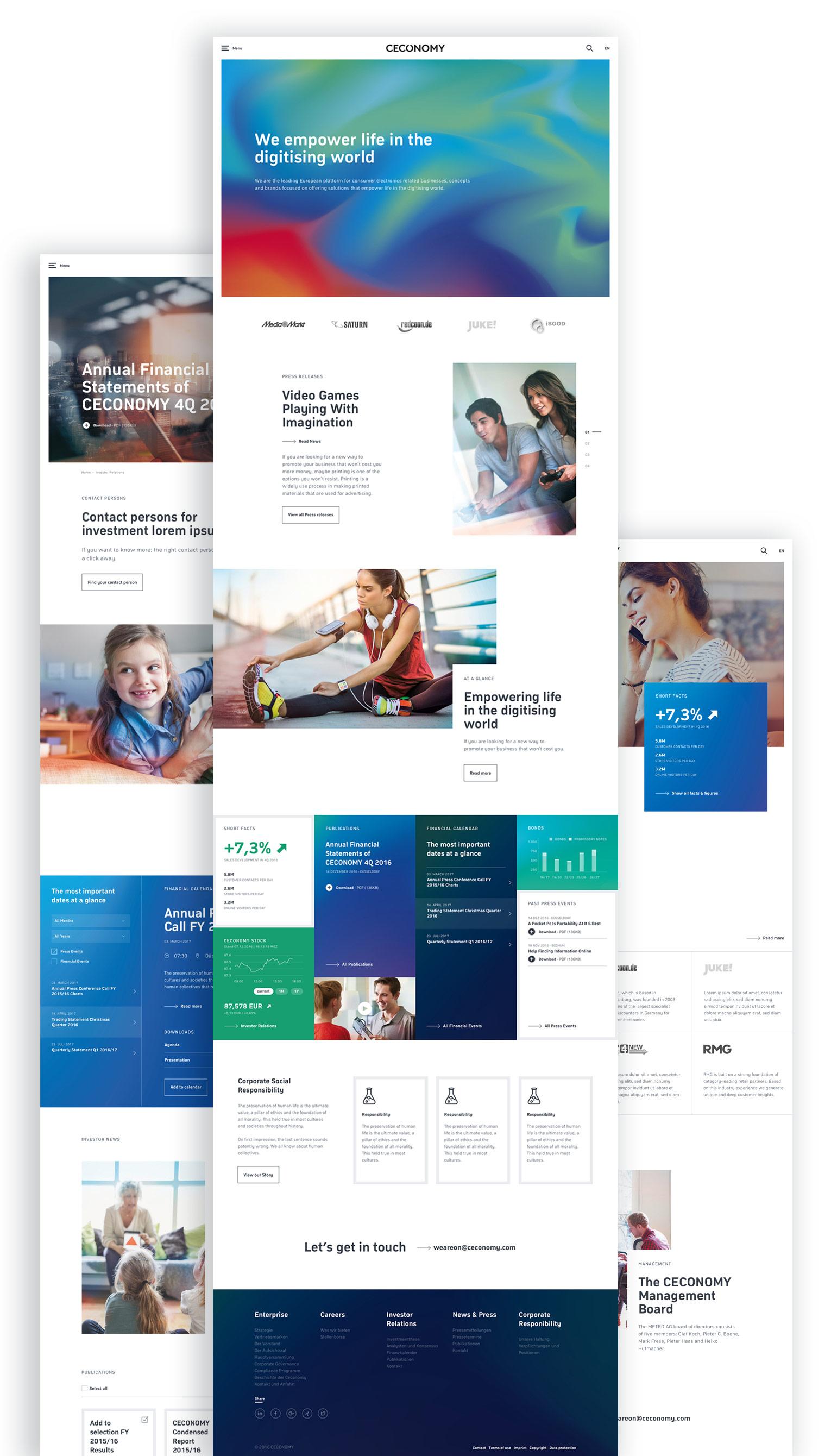 CECONOMY Website Design