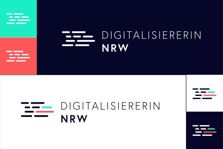 Digitalisiererin NRW Logovariationen