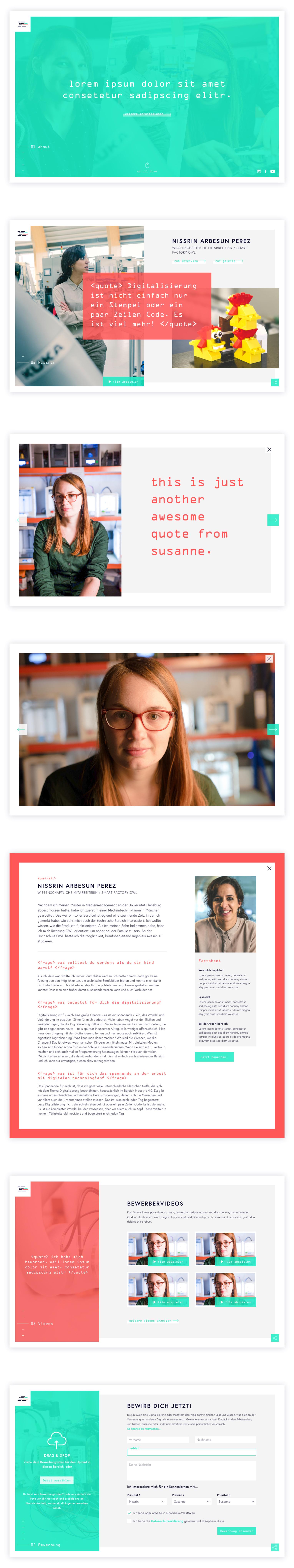 Digitalisiererin NRW Website Design
