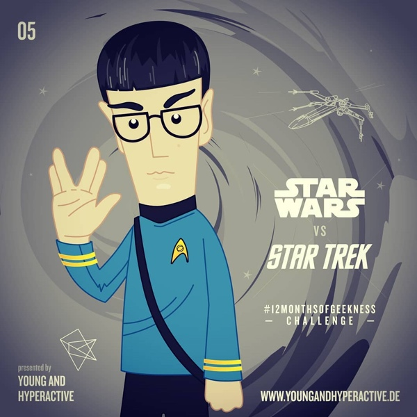 instagram Star Trek Illustration