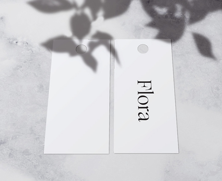 flora hanging tags