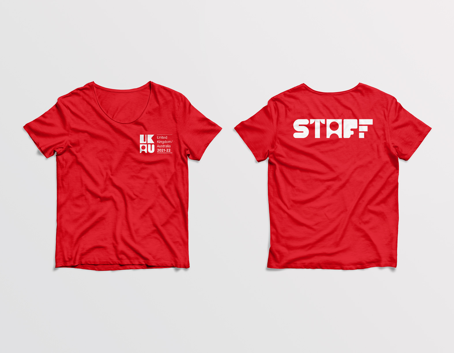 staff t-shirt front and back