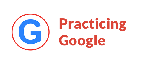 practicing google logo