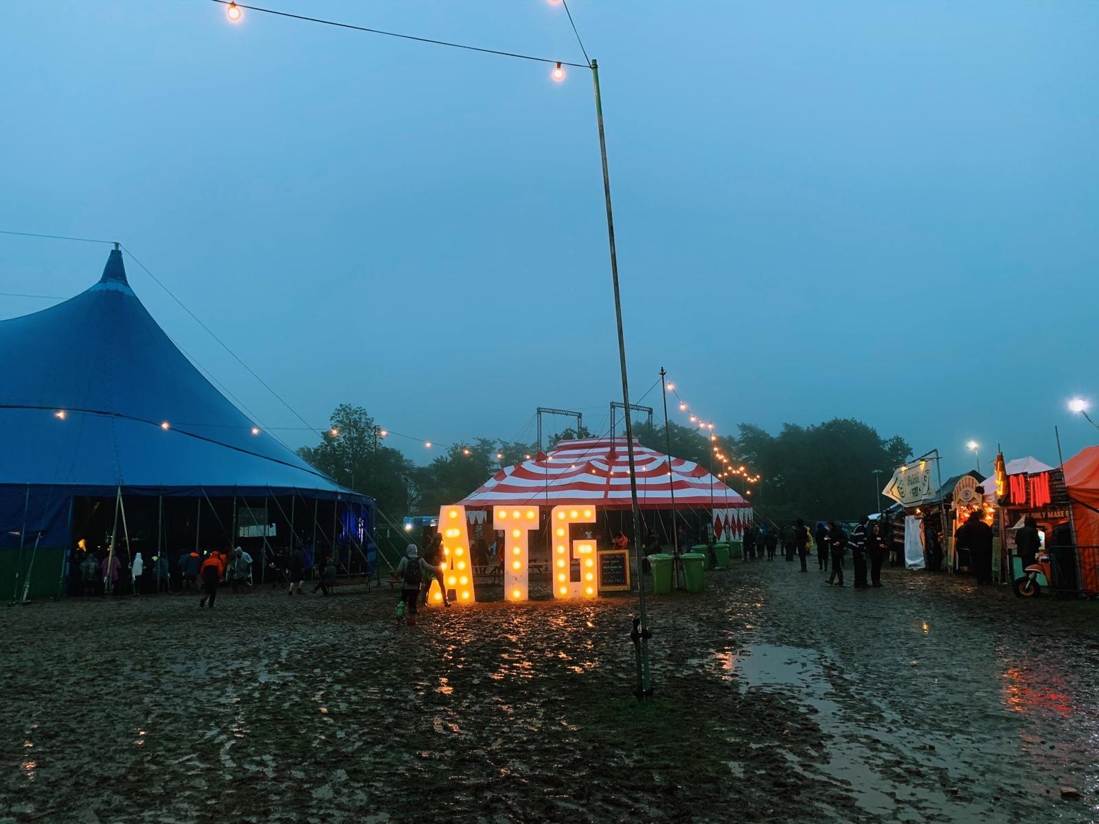 It rained a bit, ArcTangent 2019