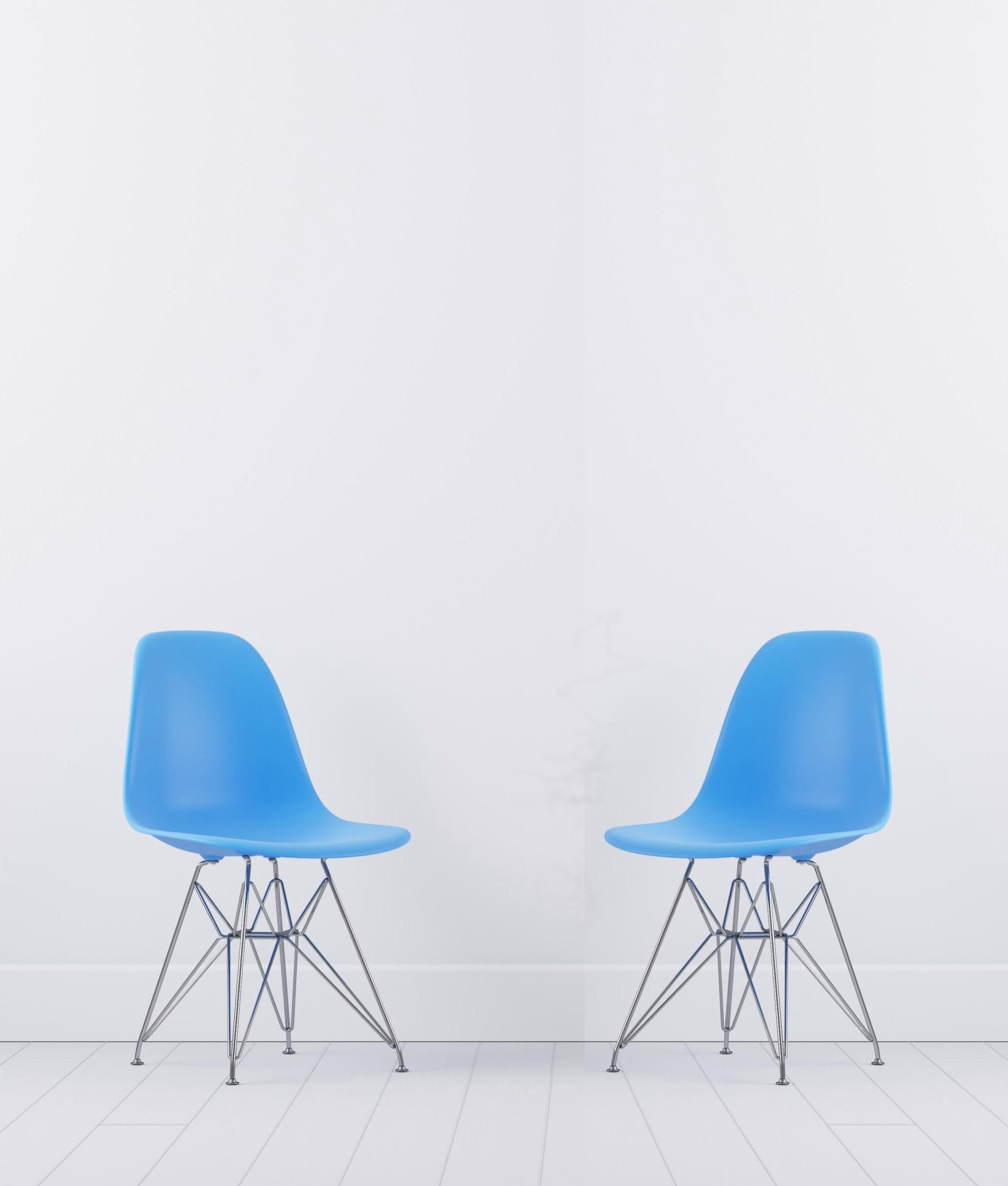 Photo de chaises bleus