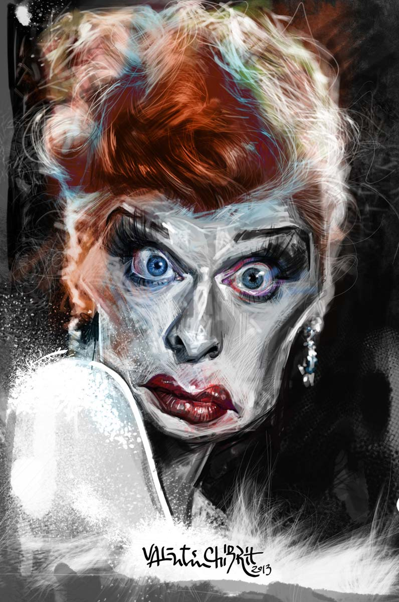 Digital caricature of actress