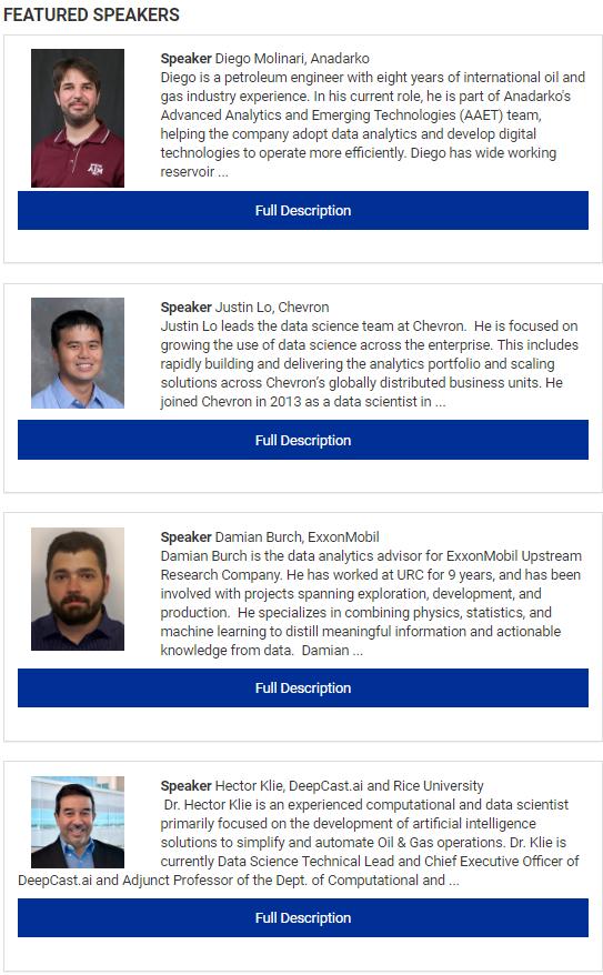 Anadarko, Chevron, ExxonMobil and DeepCast talk about Reservoir Data Analytics