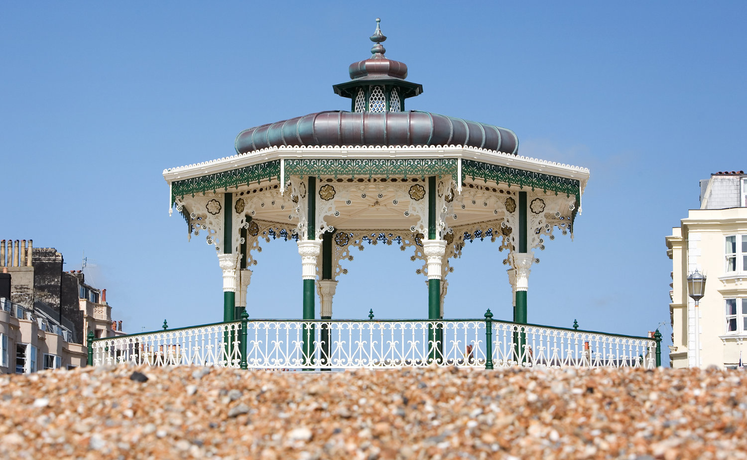 View of Brighton Bandstand from the beach