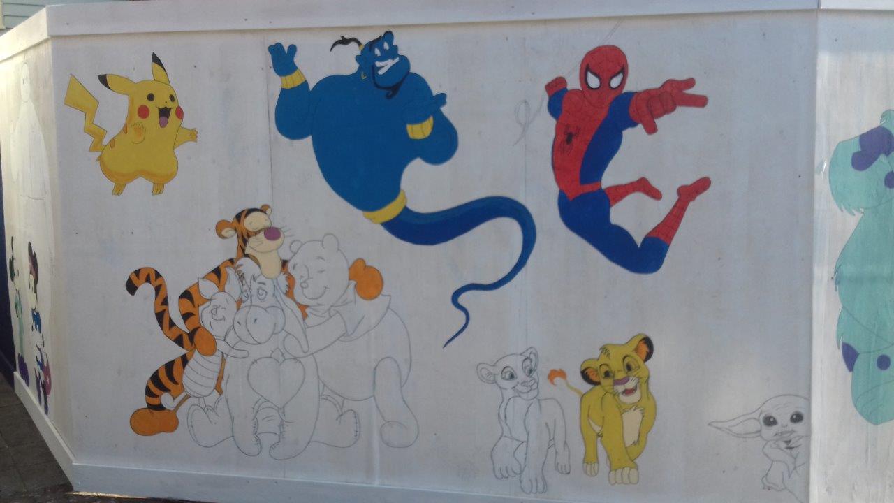 Cheesmur staff show off their graffiti skills