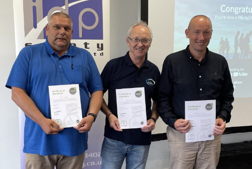 Three more of the team complete Mental Health First Aider course