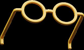 Ilustração 3D de um óculos