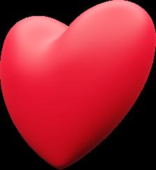 Ilustração 3D de um coração