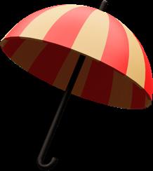 Ilustração 3D de guarda-chuva