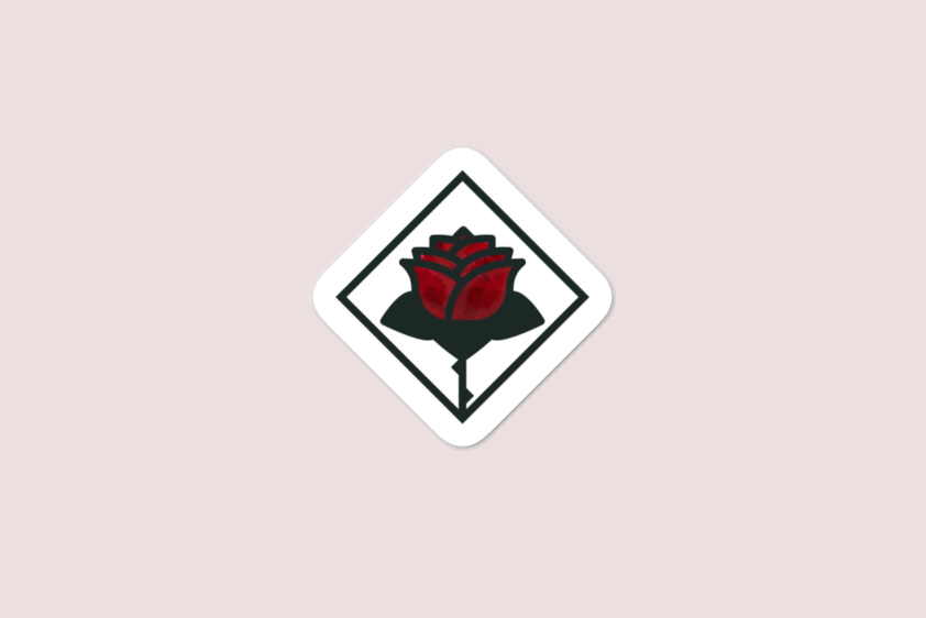 Roses as Humans Sticker