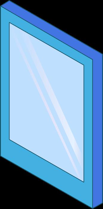 Blue tablet.