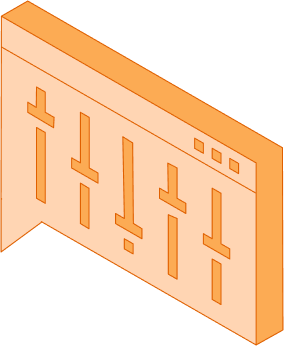 Orange panel with controls going up and down.