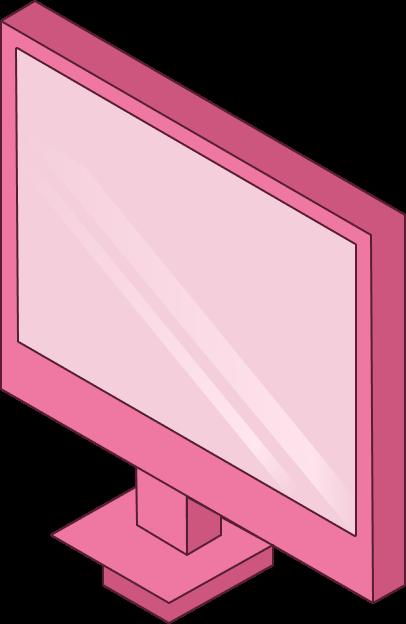 Pink desktop computer.
