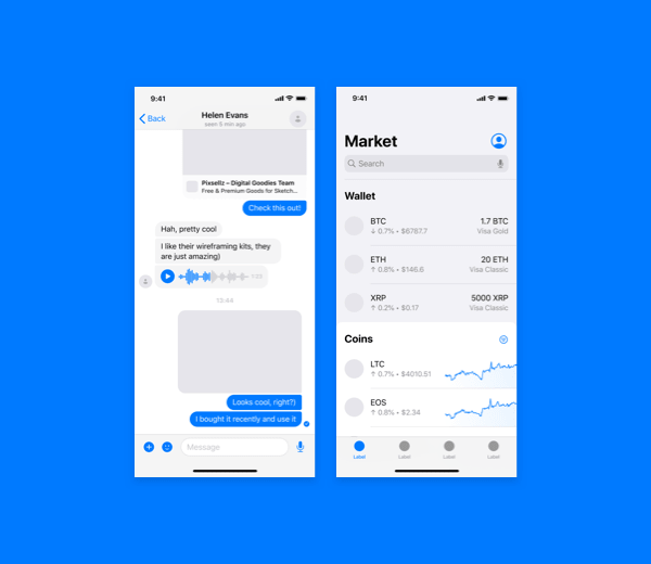 iOS Mobile Wireframe Kit