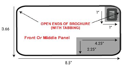 "3.66x8.5"" brochure Direct Mail Specs"