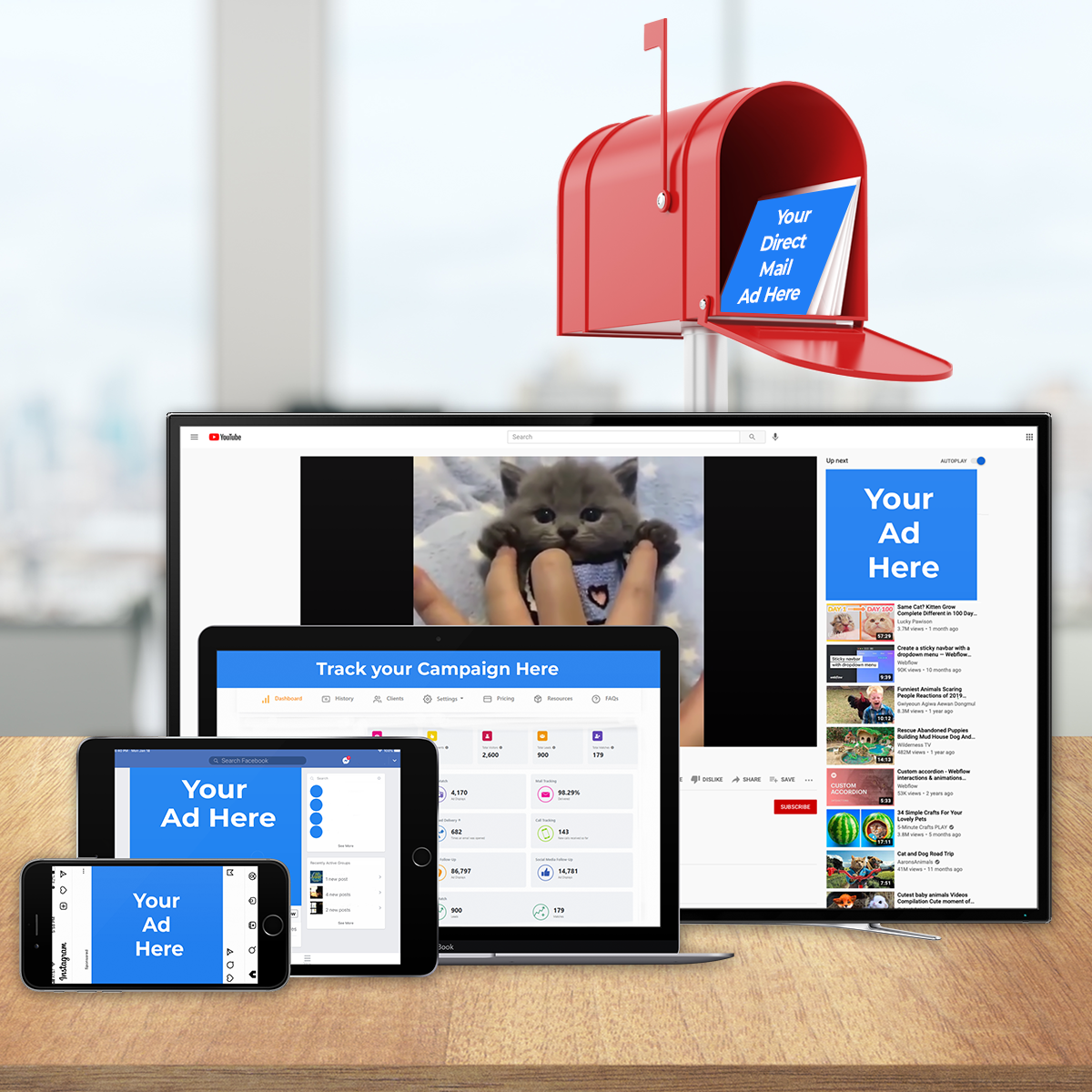 Multichannel Direct Mail ad channels