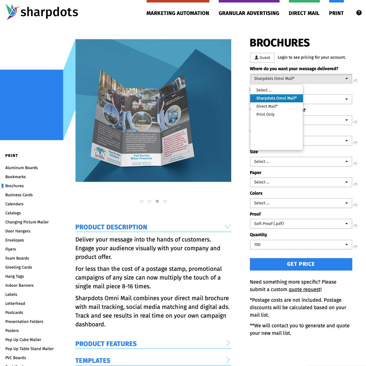 Sharpdots Omni Mail product page