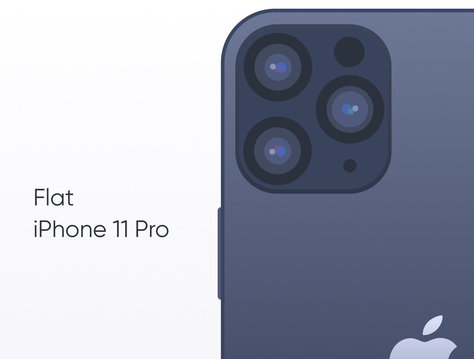 Flat iPhone 11 Pro