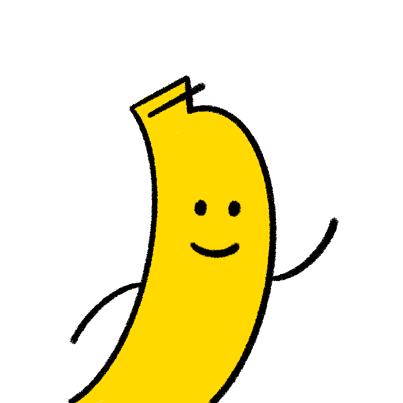 Banana is waving
