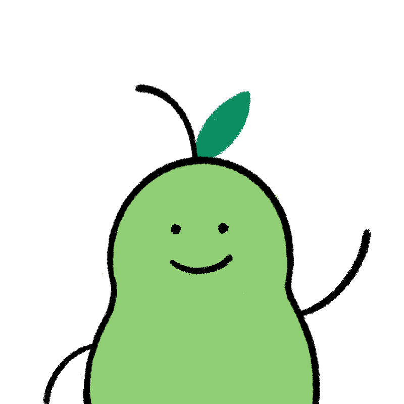 Pear is waving