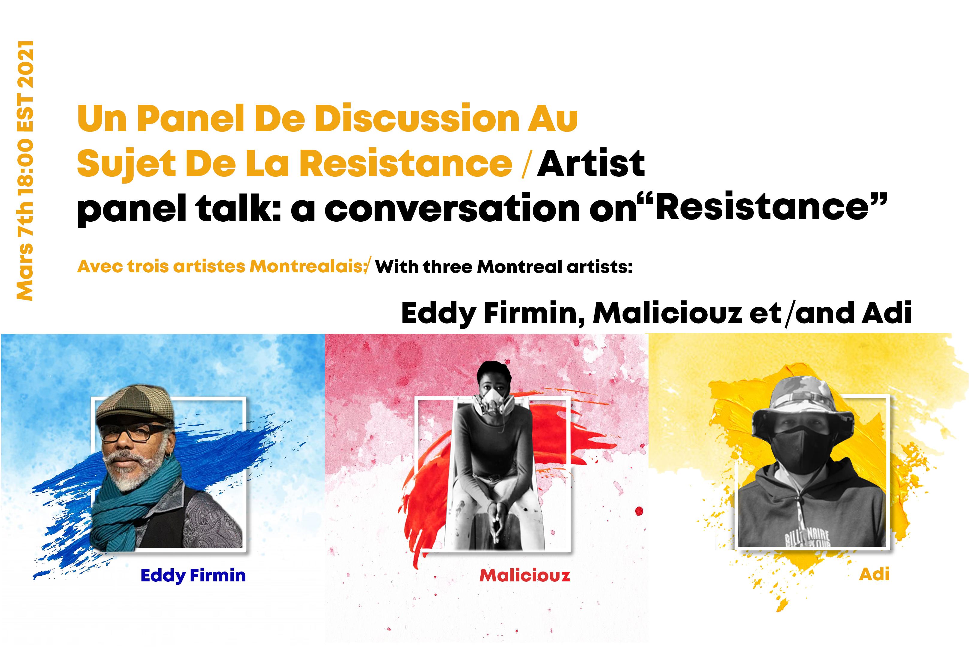 Artists Panel Talk: A Conversation On Resistance