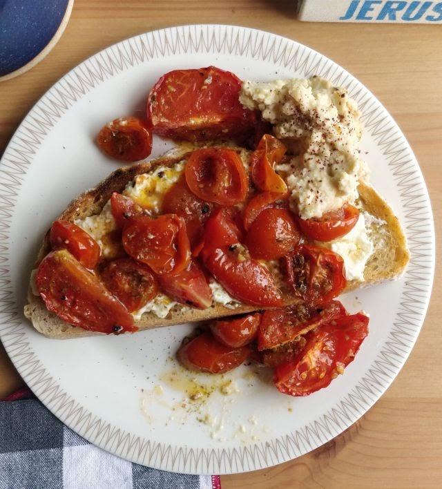 Tomatoes & feta on toast