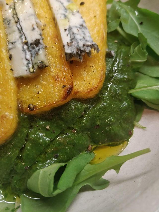 Polenta and greens