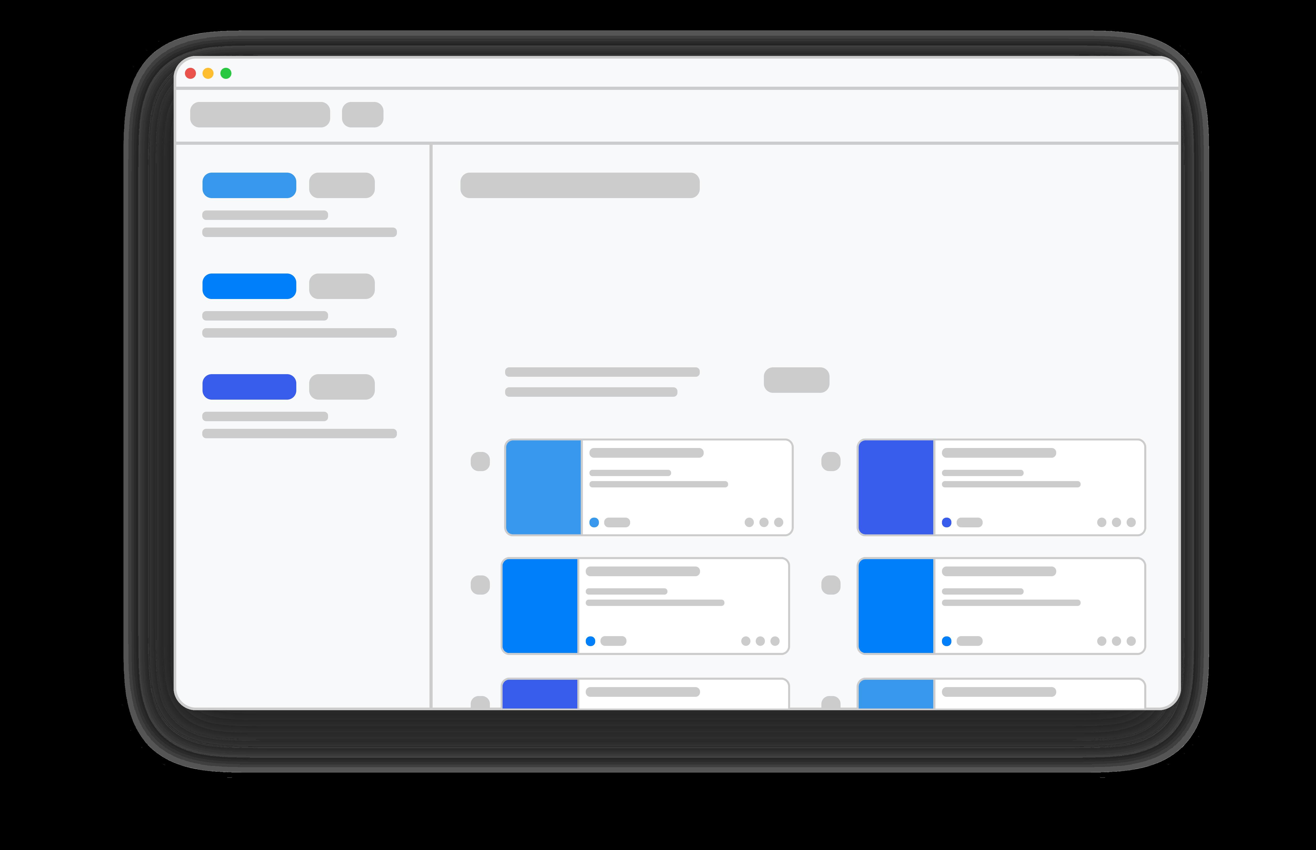 Menu management interface