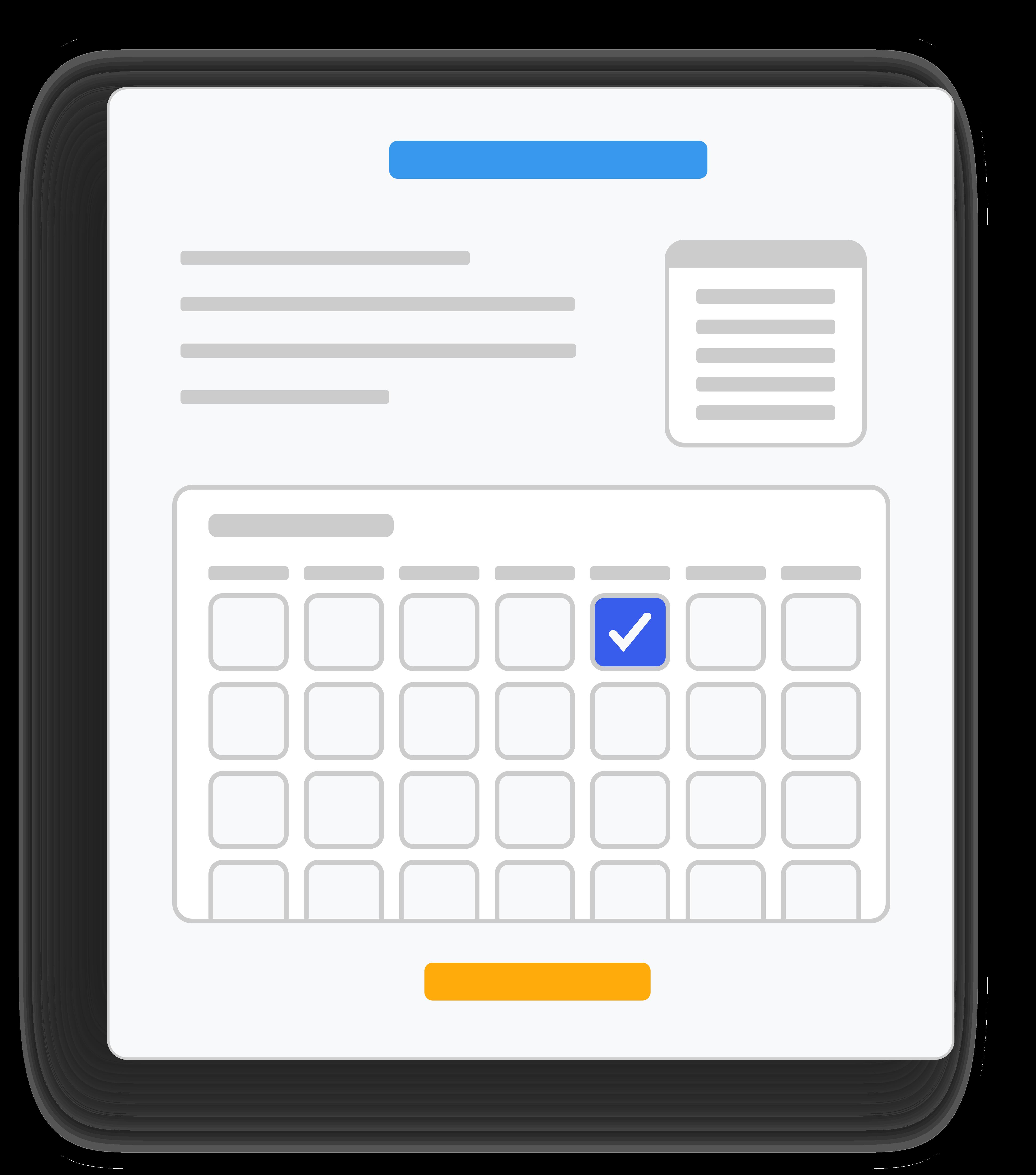 Website reservation widget