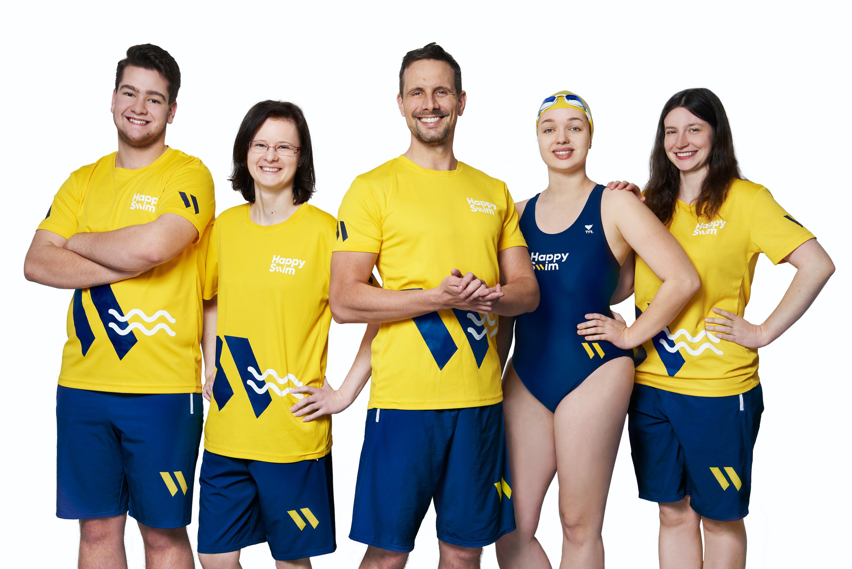 Tým HappySwim plaveckých trenérů a instruktorů