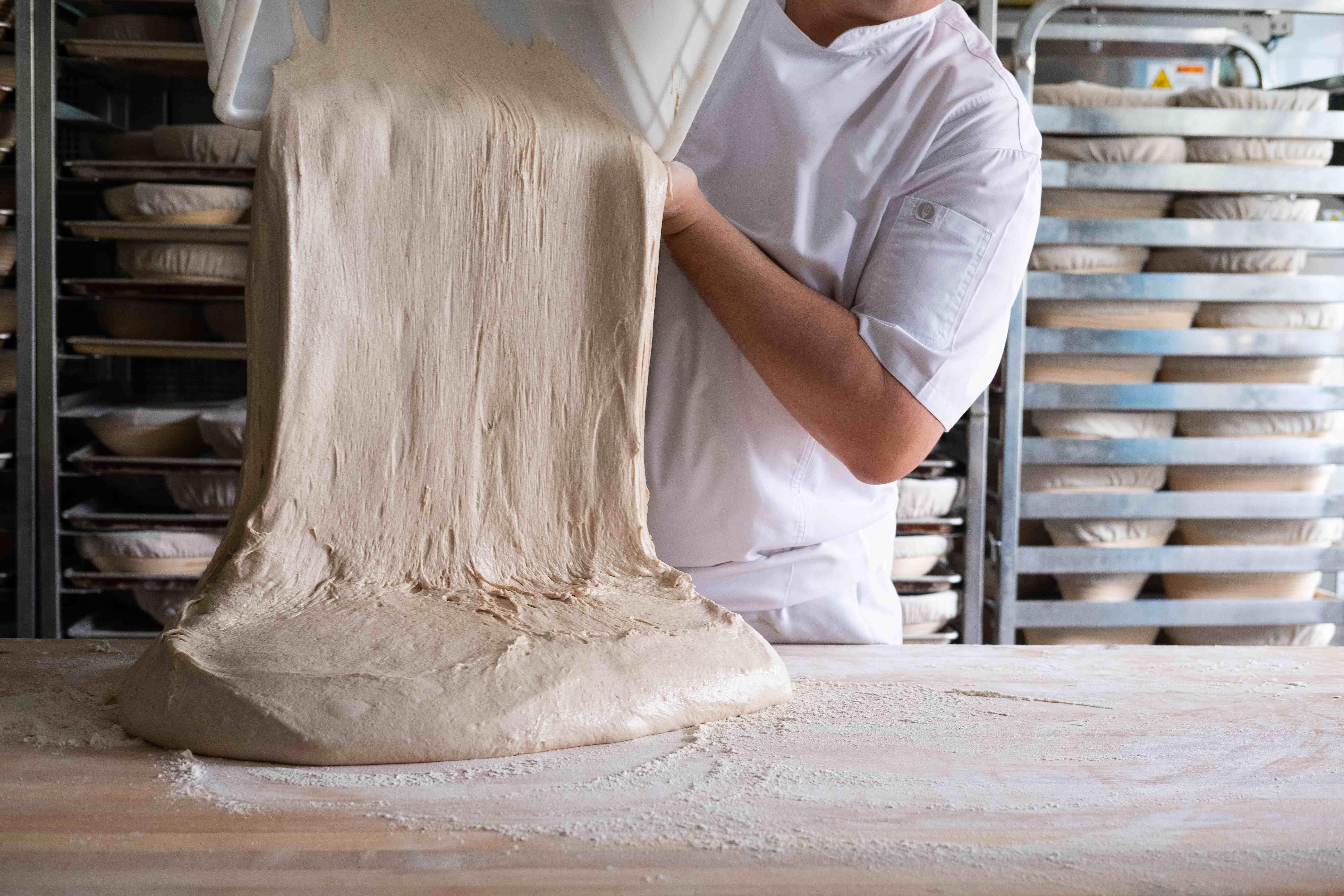 Grégoire Michaud making dough