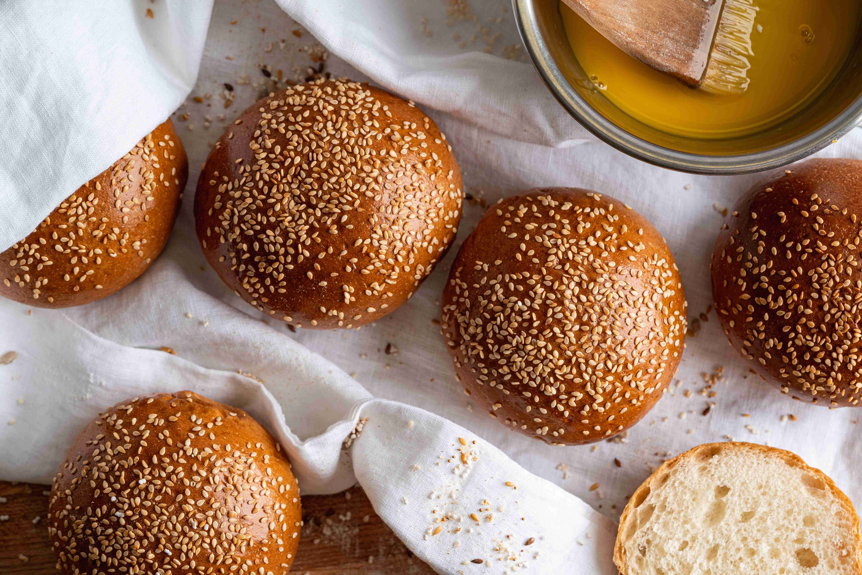 Sesame seeded buns