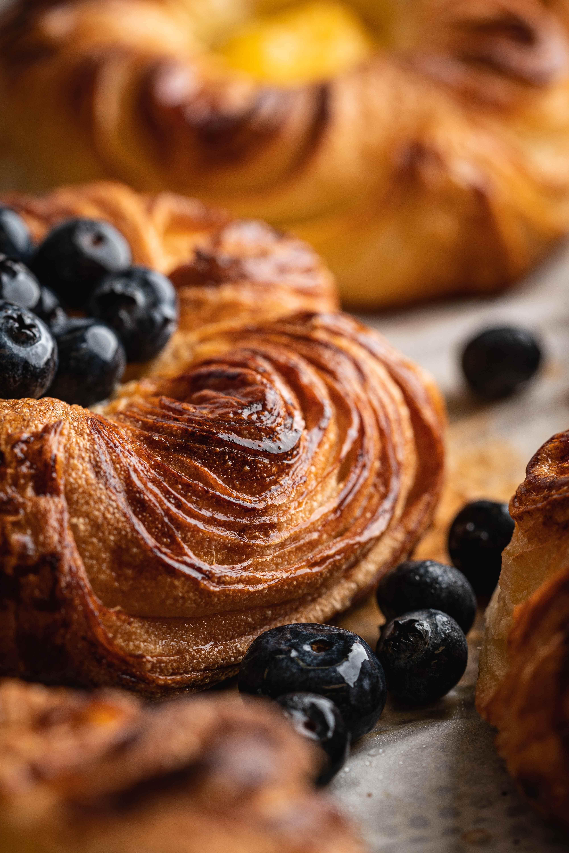 Blueberry danish pastry