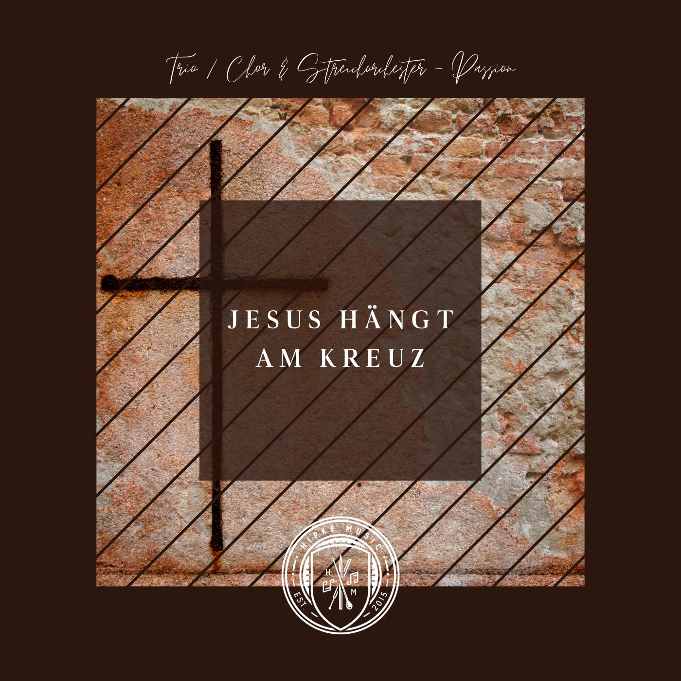 Jesus hängt am Kreuz