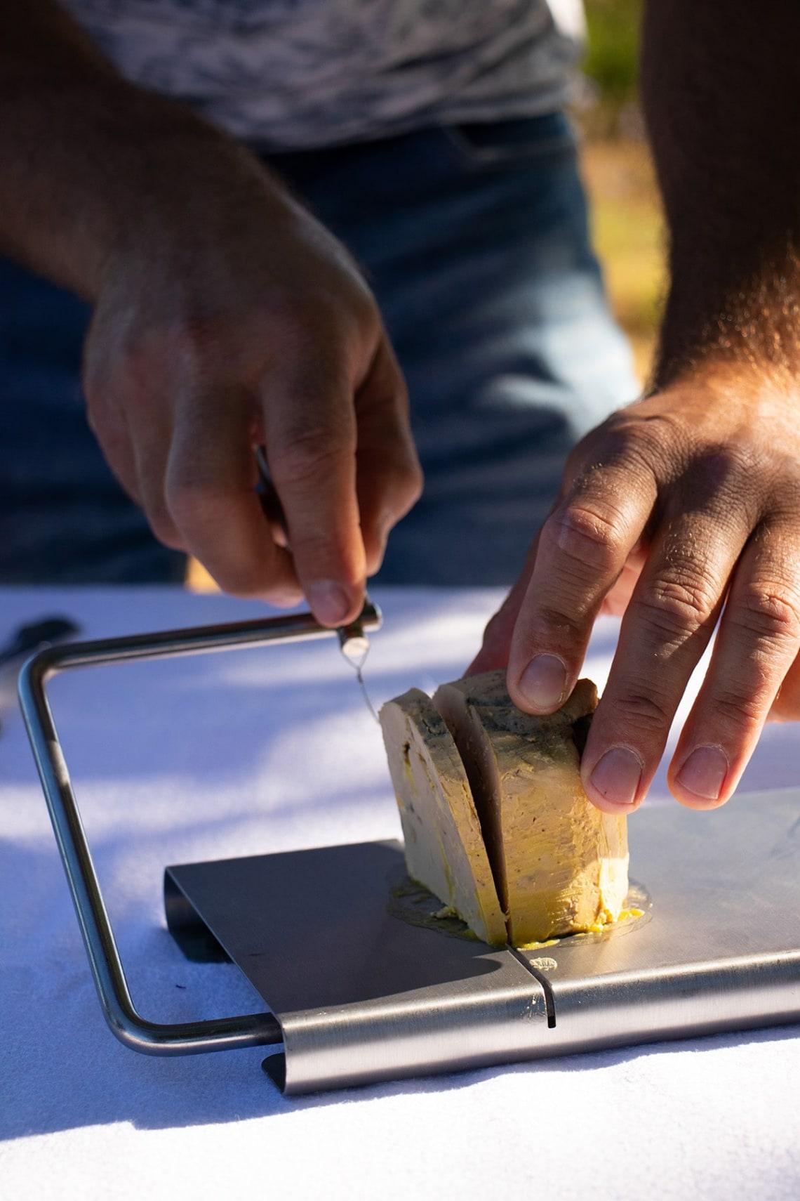 foie gras découpé