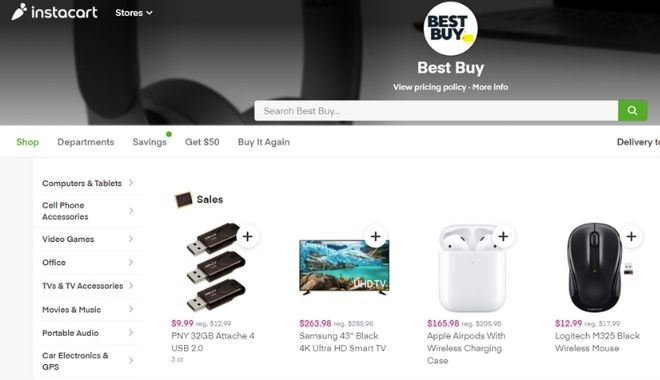 Best Buy on Instacart